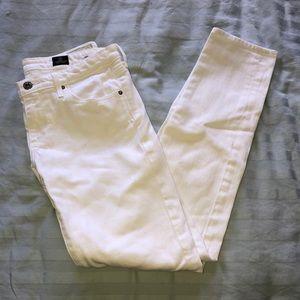 Ag white jeans the slit cigarette leg size 26